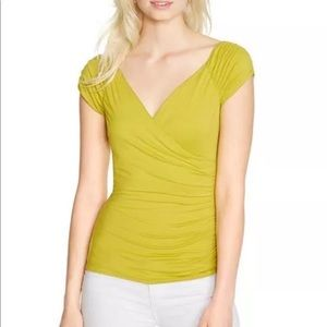 Tops - WHBM Womens S/S Ruched Stretch Reversible Top